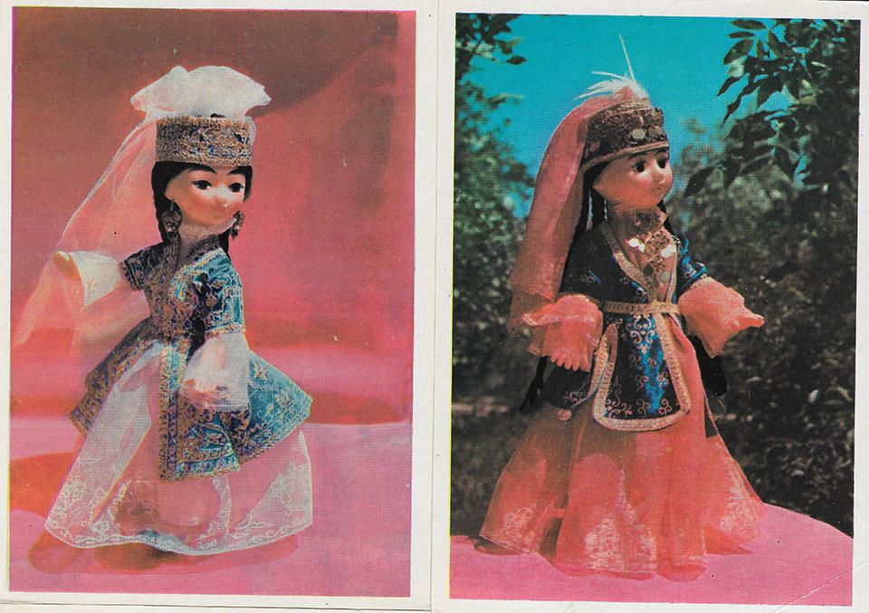Советские открытки куклы